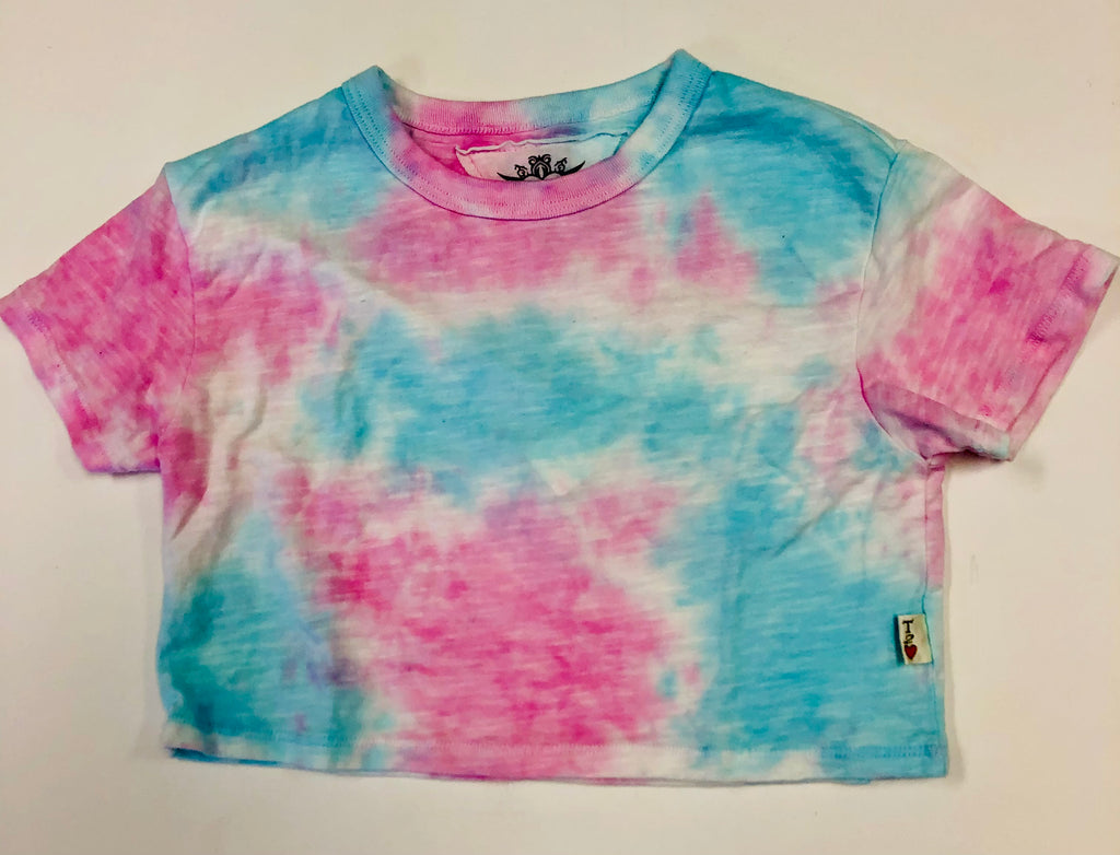 Tie Dye Boxy Tee /Pink and Blue