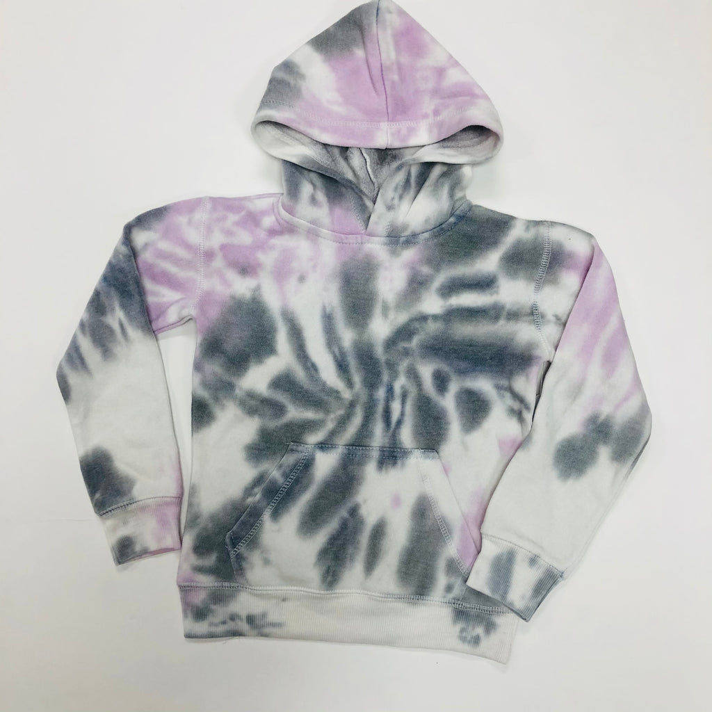 Grey and Purple Tie Dye Hoodie