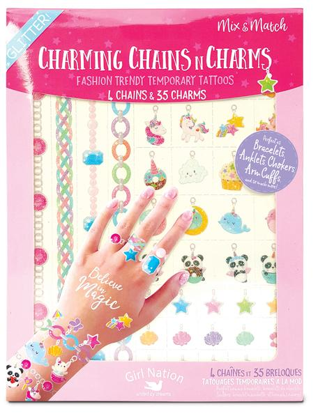 Charming Chains & Charms Temporary Tattoos