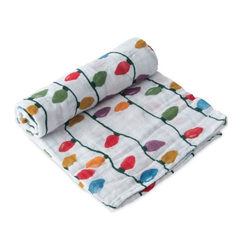 Cotton Swaddle - Holiday Bulbs