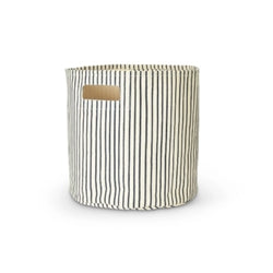 Grey Striped Printed Bin