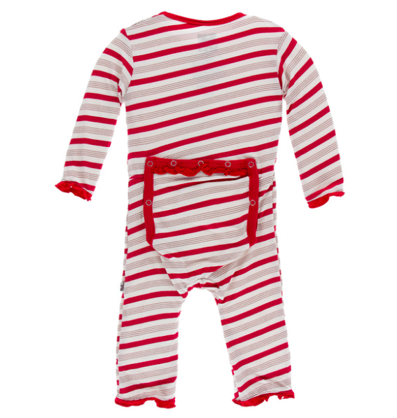 Holiday Ruffle Coverall with Snaps