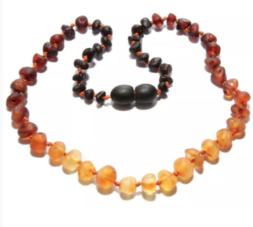 Raw Amber + Ombre Necklace