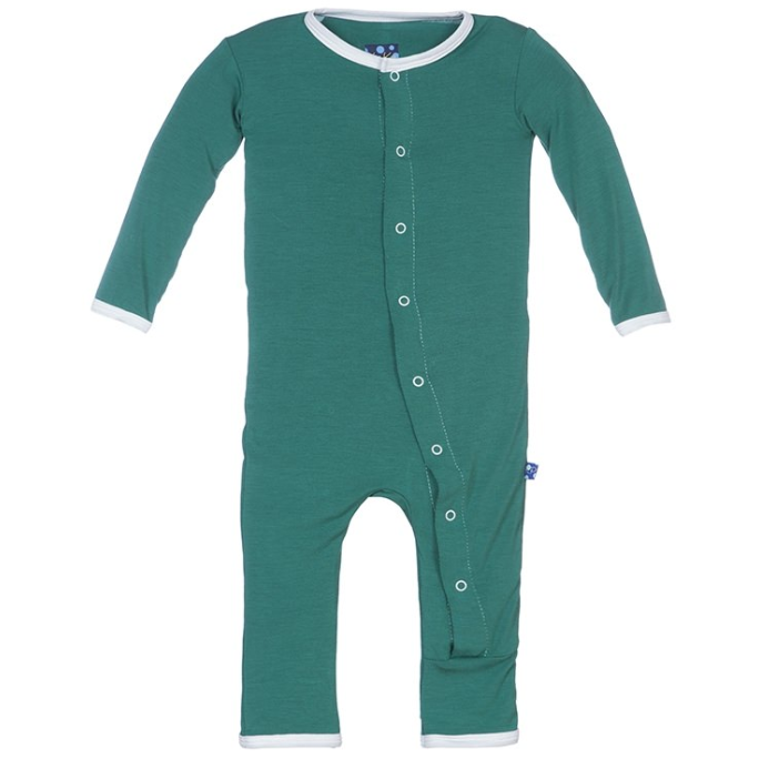 St. Patrick's Day Lucky Coverall with Snaps