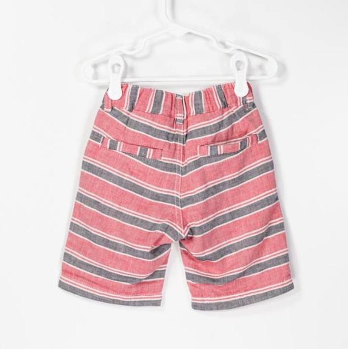 Toddler Easy Pull On Stripe Gauze Shorts
