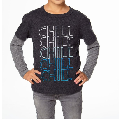 Chill Long Sleeve Layered Shirt