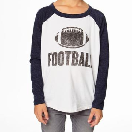 Football Distressed Long Sleeve Shirt