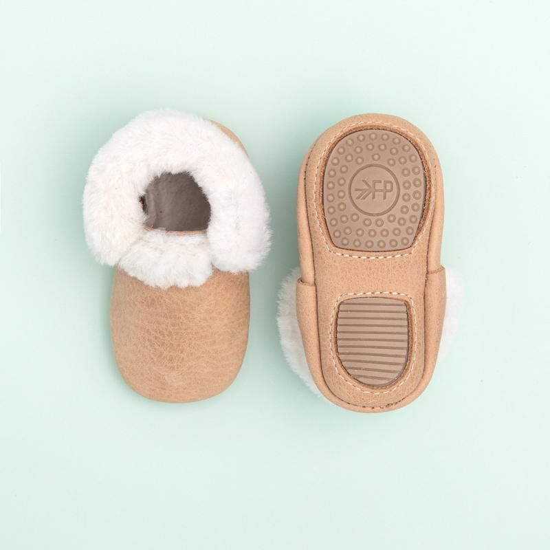Shearling Mini Soles/Weather Brown