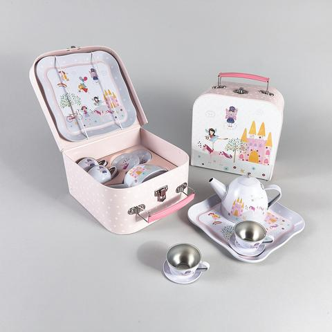 7Pc. Tin Tea Set Princess