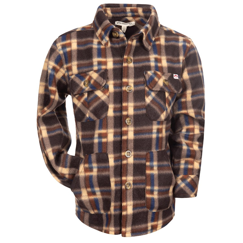Snow Fleece Shirt/Ginger Check