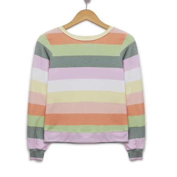Sorbet Stripes Saggy Beach Jumper