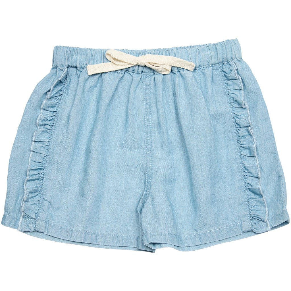 Chambray Short /Ruffle Trim