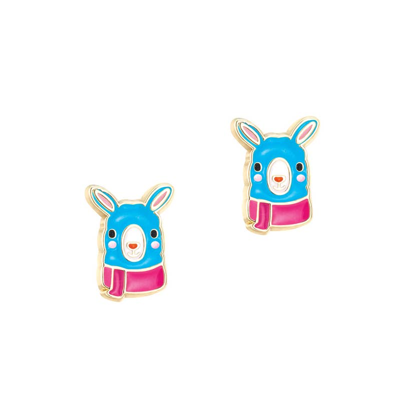 Cutie Enamel Stud Earrings/Drama Llama