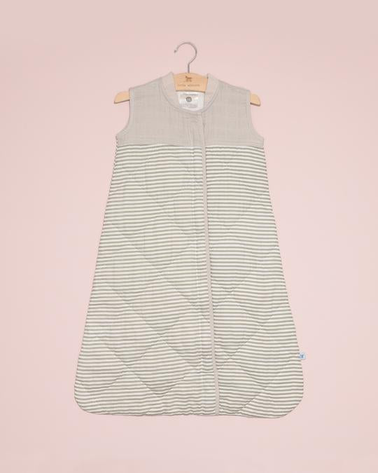 Muslin Quilted Sleep Bag 2.6TOG/Grey Stripe