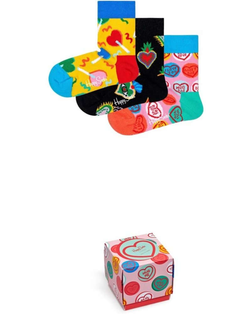 Kids Heart You Happy Sock Gift Set (3 pack)