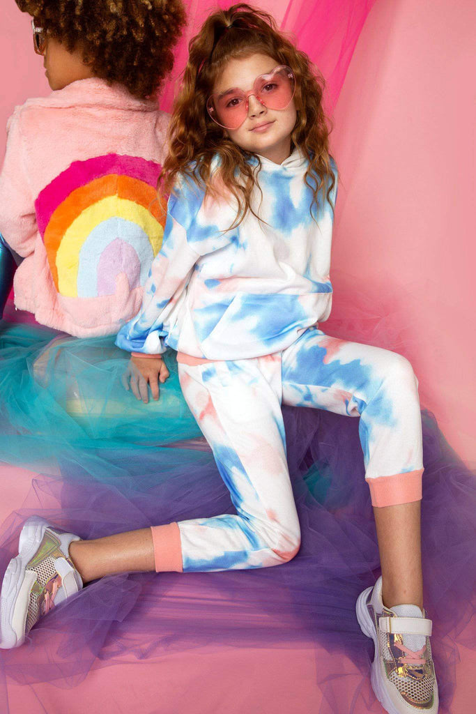 Girls Ocean Tie-Dye Jogger Set