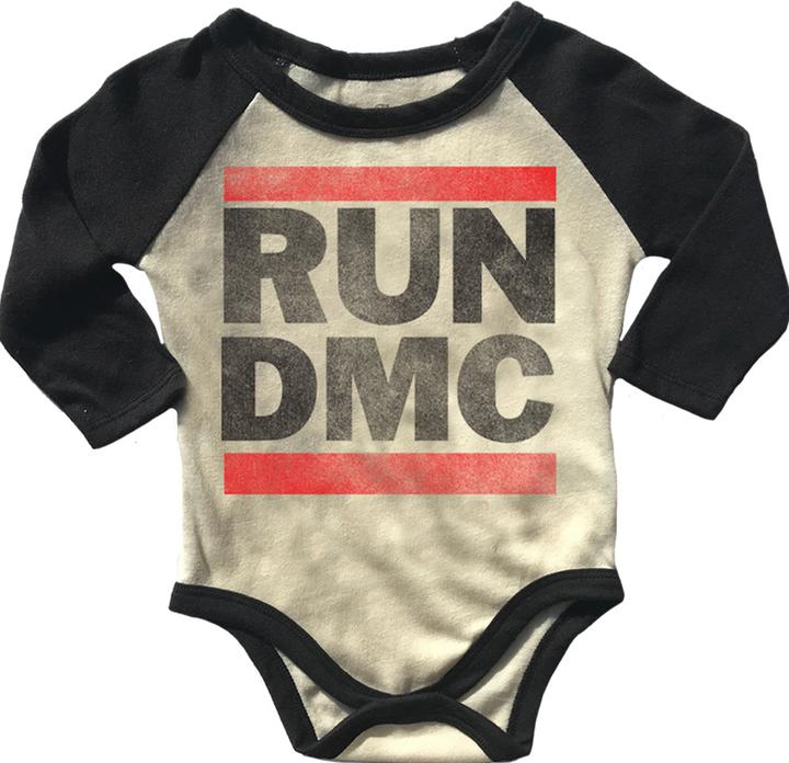 Run DMC Long Sleeve Raglan Onesie