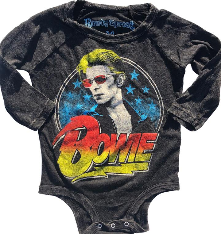 David Bowie Long-Sleeve Vintage Raglan Onesie