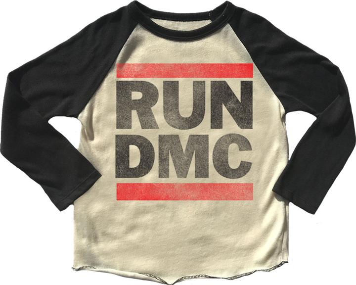 Run DMC Long Sleeve Raglan Band Tee
