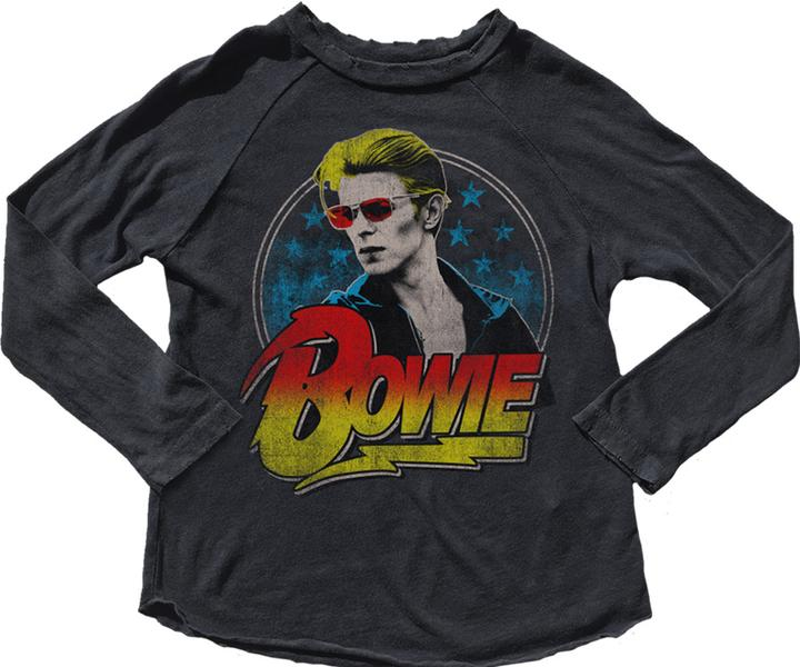 David Bowie Long Sleeve Vintage Baby Tee