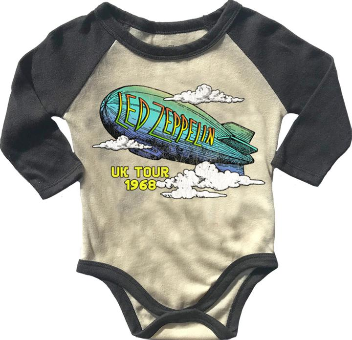 Led Zeppelin Long Sleeve Baby Raglan Onesie