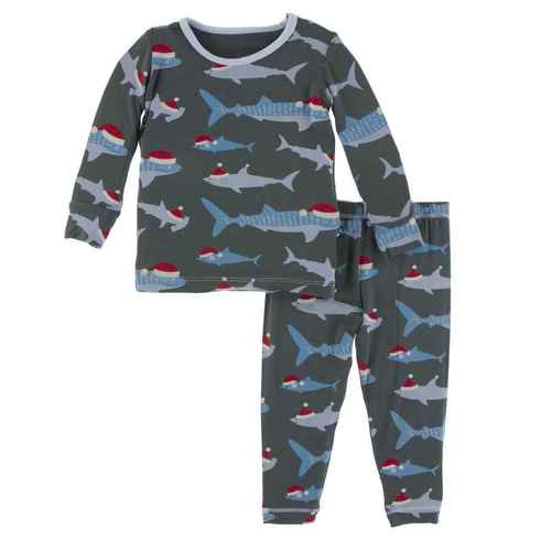 Santa Sharks 2Pc. PJ's