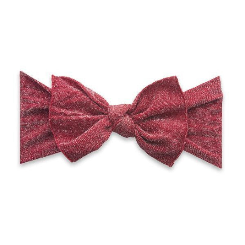 Shimmer Knot Headband - Red