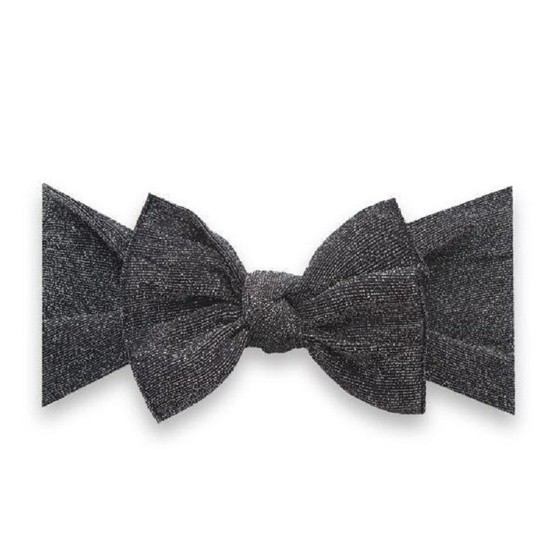 Shimmer Knot Headband - Black