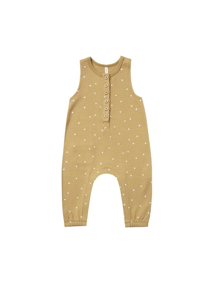 Quincy Mae Sleeveless Jumpsuit Gold/Stars