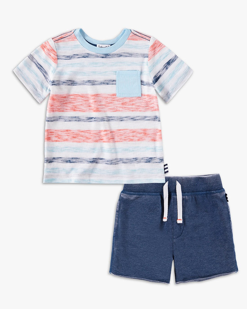 Baby Stripe Pocket Tee Set