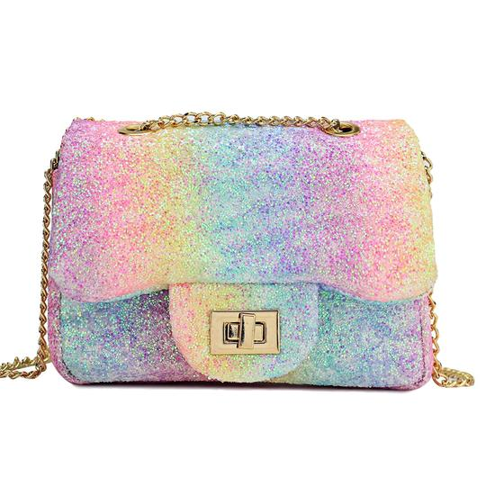 Isla -Rainbow Glitter Crossbody