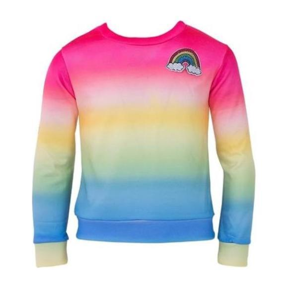 Girls Rainbow Ombre Sweatshirt