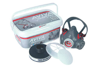 Scott Safety AVIVA 40 Asbestos & Dust Ready-Pak (w/P2  filter & pre-filter)