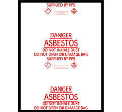 Large Asbestos Bags, 900mm  x 1200 mm x 200 micron Box of 50