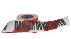 Barricade Tape: Danger Do not Enter (Red & White)
