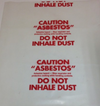Small Asbestos Bags, 900mm x600 mm x 200 micron Box of 50