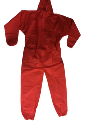 Premium Hi-Viz (Red) Type 5/6 Coveralls (HazPro PPS Branded) Red box of 50