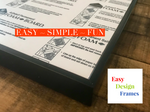 "Easy Design Frames - Black 8"" x 10"""