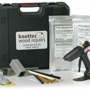 This kit is ideal for the rapid repair and filling of wood defects in timber flooring, doors, frames furniture etc. The kit includes gun, sample sticks, heat sink blocks,silicone release mat and Mouseplane, all supplied in a handy carry case.The 820 kit has a higher glue output and variable temperature and so is more suitable for sustained use.To find out more about this wood filler and primer kit please download this product information or take a look at the video on the Knottec websiteDownload a ...
