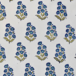 Mini Berry Buta Hand Block Printed Cotton at Pigott's Store
