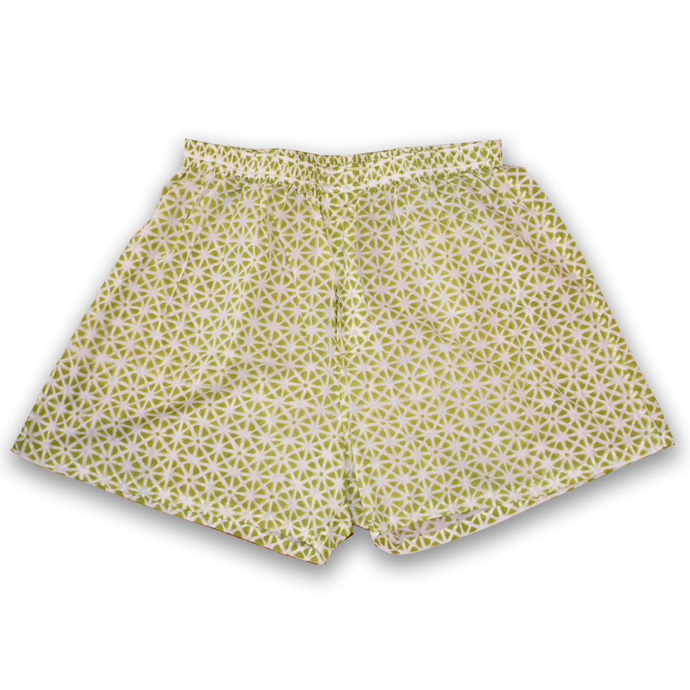 green boxer shorts at Pigott's Store