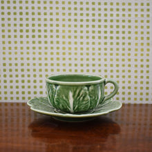 Load image into Gallery viewer, Cabbage Ware Tea Cup and Saucer