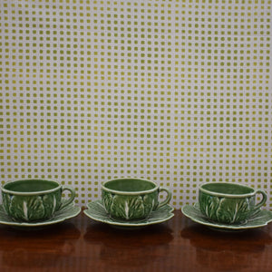 Cabbage Ware Tea Cup and Saucer