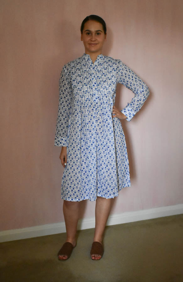 Pintucked Dress Flower Buta at Pigott's Store