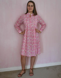 Flower Jal Pintucked Dress at Pigotts Store