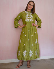 Load image into Gallery viewer, Chikankari silk dress at Pigotts Store