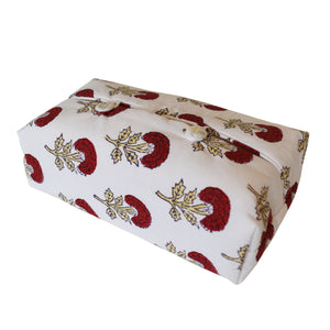 Fabric Tissue Box Cover - Bird Buta