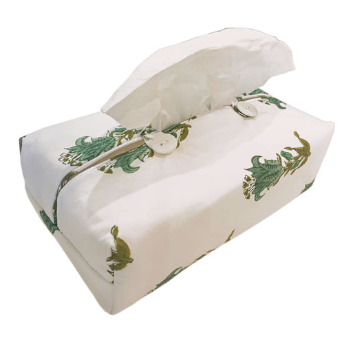 Fabric Tissue Box Cover Indian Lily
