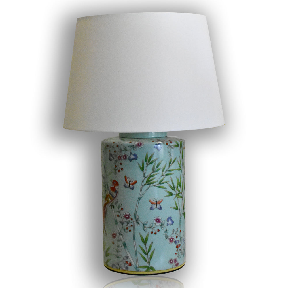 Turquoise Chinoiserie Lamp