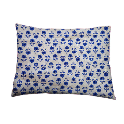 Mini Pillow Case - Block Printed - Flower Buta
